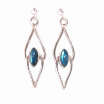 Marqui Rainbow Moonstone Earrings Silver